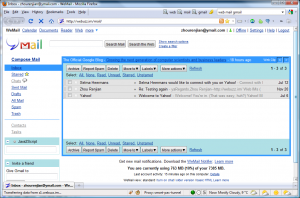 Screenshot of WeMail web mail client